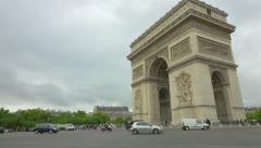 Arc de Triomphe, Paris, France, 4k UHD Stock Footage