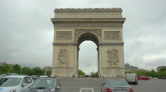 Arc de Triomphe, Paris, France, 4k UHD  - stock footage