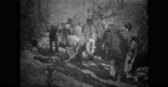 Men constructing road Stock Footage
