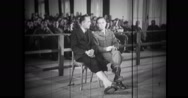 Nazi commandant being questioned through an interpreter Stock Footage