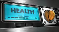 Health on Display of Vending Machine. - stock illustration