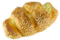 sesame bread - stock photo
