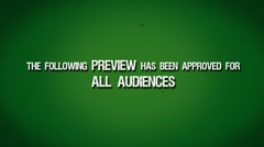 Film Leader: Preview Approved For All Audiences HD Stock Footage