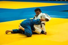girl in judo - stock photo