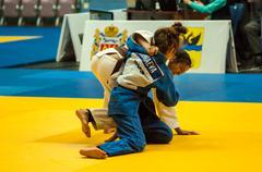 Girl in judo Kuvituskuvat