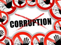 no corruption abstract concept - stock illustration