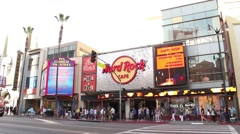 Hard Rock Cafe on Hollywood Blvd HD Stock Footage