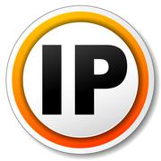 ip address icon - stock illustration