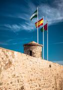 Gibralfaro castle (alcazaba de malaga), spain Stock Photos