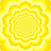 Stock Illustration of Tantric manipura, chakra, yellow lotos, - sun,  solar plexus