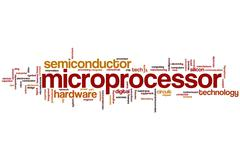 Microprocessor word cloud Stock Illustration