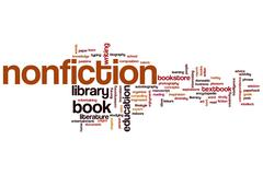 nonfiction word cloud - stock illustration