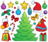 Christmas decoration theme - illustration. Stock Illustration