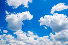 Stock Photo of blue sky with cloud