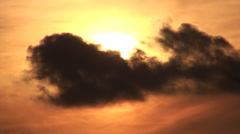 Sunset Sun And Clouds Timelapse Stock Footage