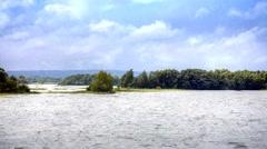 Lake onega. thunderstorm. 3d animation Stock Footage