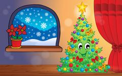 Stock Illustration of christmas indoor theme - illustration.