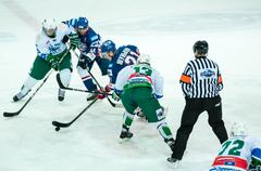 ice hockey competitions - stock photo