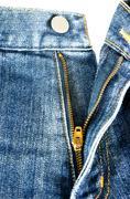Zipper jeans Stock Photos
