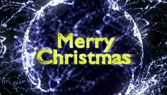 Merry Christmas Text in Particles Stock Footage