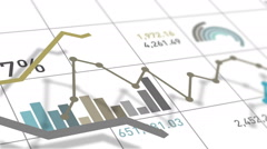 Stock Video Footage of Financial And Charts Loop