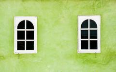 mediterranean style window - stock photo