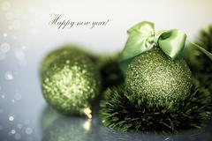 Christmas tree ornaments and balls Stock Photos
