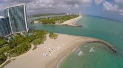 Aerial Miami Beach Florida 4k video - stock footage