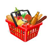 Stock Illustration of basket with food