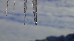 Dripping Icicles Time Lapse Stock Footage