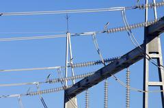power transformer - stock photo