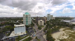 Coconut Grove aerial video 4k Stock Footage