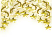 Stock Illustration of golden garland with star