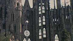 Barcelona 1969: la Sagrada Familia Stock Footage