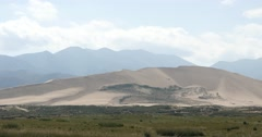 4k far away Desert & grassland scenery,plateau landform,Qinghai,northwest China Stock Footage