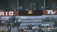 Barcelona 1969: vip tribune at a bullfighting at the Monumental Stock Footage