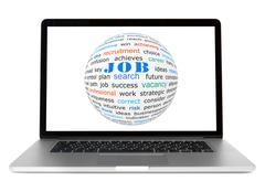 Concept of job search Stock Photos