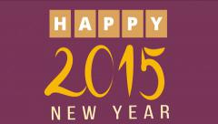 Happy 2015 new year. - stock footage