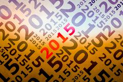 2015  trendy geometric single typographic word - stock illustration