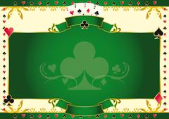 Poker game ace of clubs horizontal background Stock Illustration