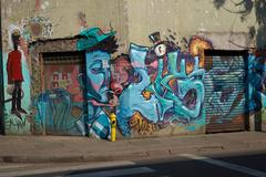 Stock Photo of Murals of Barrio Yungay