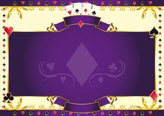 Poker game ace of diamonds horizontal background Stock Illustration