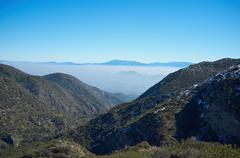 Smog over Santiago - stock photo