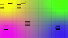 Rainbow abstract wall with rotating cubes. Stock Footage