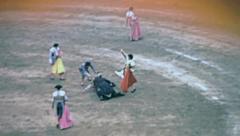 Barcelona 1969: tercio de banderillas at a bullfighting at the Monumental Stock Footage