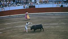 Barcelona 1969: bullfighting at the Monumental Stock Footage