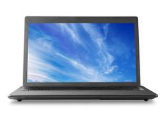 Laptop and sky - stock photo