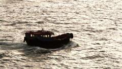 Boat in Super Slow Motion, Kowloon Bay, Hong Kong Stock Footage