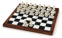 Symbolic chess revolution Stock Illustration