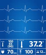 Stock Illustration of Modern Electrocardiogram Monitor